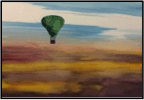Purple /Yellow Sky With Balloon