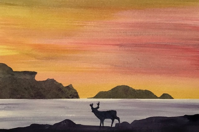 Lonely Deer Sunset